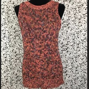 Loft multicolored sleeveless sweater